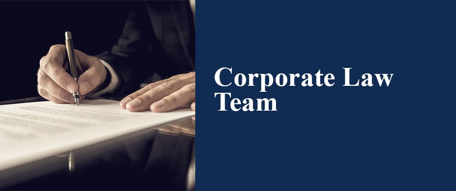 Corporate Law Team Button